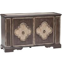 Storage Furniture - Two Door Console I High Fashion Home - two door console, traditional console, two tone console,