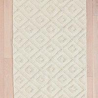 Rugs - Tonal Diamond Rug I Urban Outfitters - tonal diamond rug, diamond patterned wool rug, tonal wool diamond patterned rug,