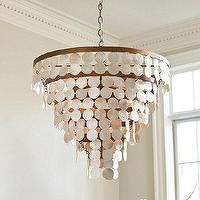 Lighting - Vernay 10-Light Chandelier | Ballard Designs - capiz chandelier, capiz shell chandelier, tiered capiz shell chandelier,
