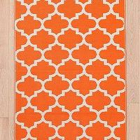 Rugs - Indoor/Outdoor Tile Mat I Urban Outfitters - orange tile mat, indoor outdoor orange tile print mat, orange tiled area rug,