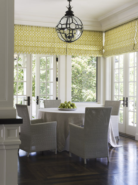 Trellis Roman Shades Contemporary Dining Room Wendy