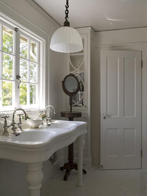 Paris Style Bathroom Decor: Double Parisian Pedestal Sink