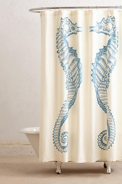 Reflected Seahorse Shower Curtain I