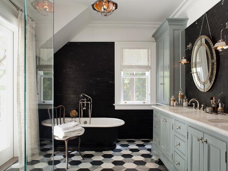 Black And Gray Bathroom Contemporary Bathroom Wendy