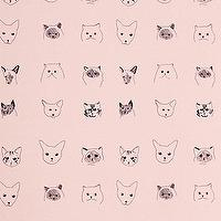 Wallpaper - Cats Wallpaper I Anthropologie.com - cat wallpaper, pink cat wallpaper, feline wallpaper, pink feline wallpaper,
