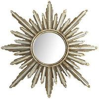 Mirrors - Mirrored Burst Mirror I Pier 1 - silver sunburst mirror, sunburst mirror, silver champagne sunburst mirror,
