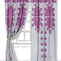 Window Treatments - Suzani Stitch Curtain I Anthropologie.com - embroidered fuchsia curtains, embroidered fuchsia drapes, fuchsia suzani stitch curtains,