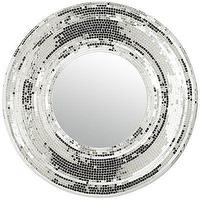 Mirrors - Bezel Mirror I Pier 1 - mirror tiled round mirror, mirrored mosaic mirror, mirrored mosaic round mirror,