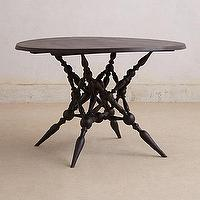 Tables - Notched Vines Dining Table I Anthropologie.com - round dining table, dark-stained sheesham wood table, sheesham round dining table,