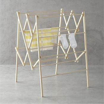 Storage Furniture - Large Wood Drying Rack in Laundry | Crate and Barrel - drying rack, wooden drying rack, laundry rack,