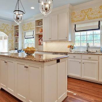 White Kitchen Cabinets with Granite Countertops, Transitional, kitchen, House of Fifty