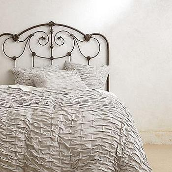 Bedding - Ebba Jersey Duvet I Anthropologie.com - gray ruched duvet, gray duvet, gray ruched bedding, gray ruched bed linens,