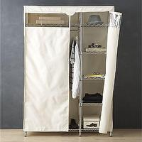 Storage Furniture - Work Closet with Dust Cover in Laundry | Crate and Barrel - storage shelves with dust cover, steel rack with dust cover, chromed steel rack with dust cover,