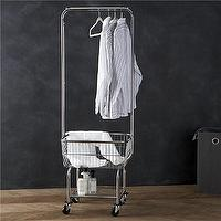 Storage Furniture - Laundry Butler in Laundry | Crate and Barrel - laundry sorter, laundry bins, laundry hamper, laundry divider, laundry cart, laundry hamper with drying rail, laundry room organizer,