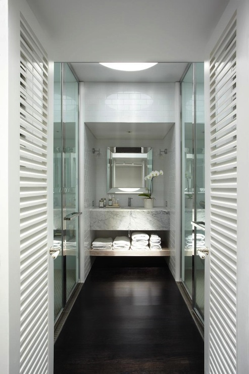 His And Her Showers Contemporary Bathroom Burley