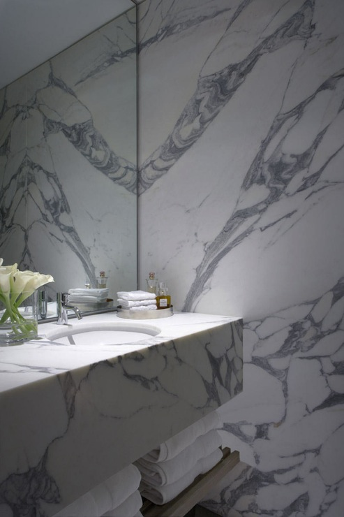Floating Stone Sink : Floating Marble Sink - Contemporary - bathroom - Burley Katon Halliday