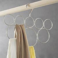 Storage Furniture - Classico 8-Loop Scarf Hanger in Closet | Crate and Barrel - scarf hanger, scarf holder, scarf loop,
