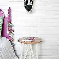 Owen's Olivia - girl's rooms - Benjamin Moore - Decorator's White - eclectic girls room, eclectic girls bedroom, sweet girls room, sweet girls bedroom, decorators white, white wall panels, anthropologie zebra head, savannah story bust, savannah story bust zebra, decorative zebra head, paper mache zebra head, target nightstand, zigzag rug, teal zigzag rug, teal rug, teal chevron rug, chevron rug, urban outfitters rug,