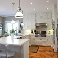 Lejla Eden Interiors - kitchens - Benjamin Moore - White Dove - white kitchen, quartz countertop, country, traditional,  White country kitchen,