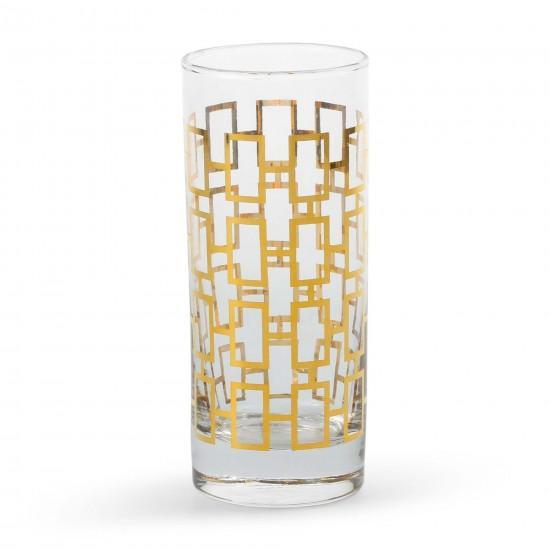 Golden Rectangle Highball Glasses Set Of 4 C Wonder