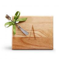 Decor/Accessories - Monogram Home Set I C. Wonder - monogrammed cheeseboard, monogrammed cheeseboard and spreader, monogrammed hostess gifts,