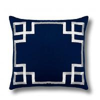 Pillows - Embroidered Greek Keys Pillow Cover | C. Wonder - indigo blue greek key pillow, blue greek key pillow, indigo and white greek key pillow,