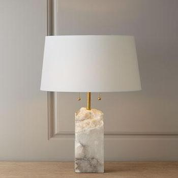 Lighting - Regina-Andrew Design Raw Alabaster Lamp I Horchow - alabaster lamp, raw alabaster lamp, alabaster table lamp,