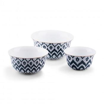 Decor/Accessories - Ikat Nesting Bowls (set of 3) I C. Wonder - ikat nesting bowls, navy and white ikat nesting bowls, ikat bowls
