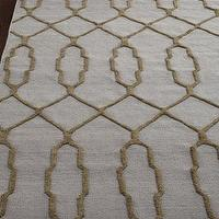 Rugs - Diamond Key Rug I Horchow - trellis rug, yellow trellis rug, gold trellis rug, diamond key rug, brown and blue geometric rug, blue and brown diamond key rug,