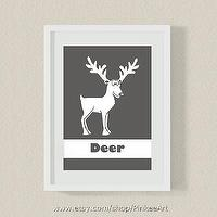 Art/Wall Decor - Modern Nursery art by PinkeeArt on Etsy - nursery art, kids room, Modern nursery art, kids wall art, deer