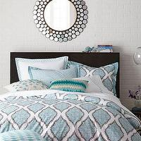 Bedding - John Robshaw Mali Bed Linens I Horchow - blue and white block print bedding, blue and white block print bed linens, block print bedding,