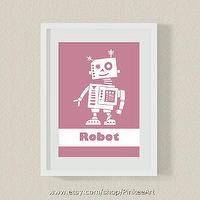 Art/Wall Decor - Modern kids wall art by PinkeeArt on Etsy - modern nursery, kids wall art, robot art, nursery print, nursery wall art, nursery art