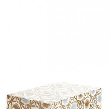 Decor/Accessories - Bone Box | Calypso St. Barth - screen printed bone box, inlaid bone box, bone inlay box,
