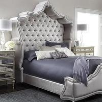 Beds/Headboards - Haute House Antoinette Bed I Horchow - tufted headboard, regal tufted headboard, shelter-style tufted headboard,
