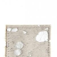 Decor/Accessories - Designer Coaster Silver | Calypso St. Barth - cowhide coaster, silver cowhide coaster, silver hide coaster,