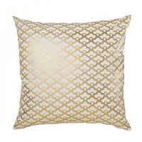 Pillows - GOLD LOTUS PILLOW I Caitlin Wilson Textiles - gold foil pillow, gold lotus pillow, gold and white pillow,