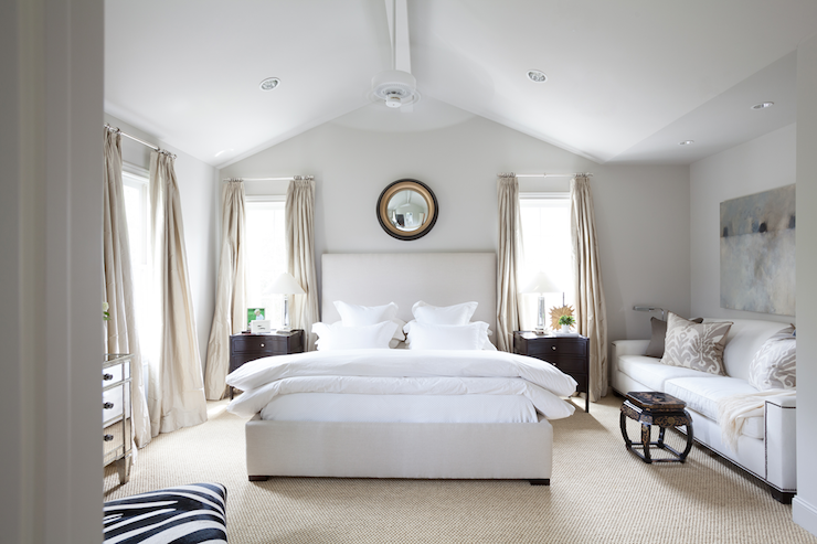 Vaulted Ceiling Bedroom Transitional Bedroom Ashley Goforth Design