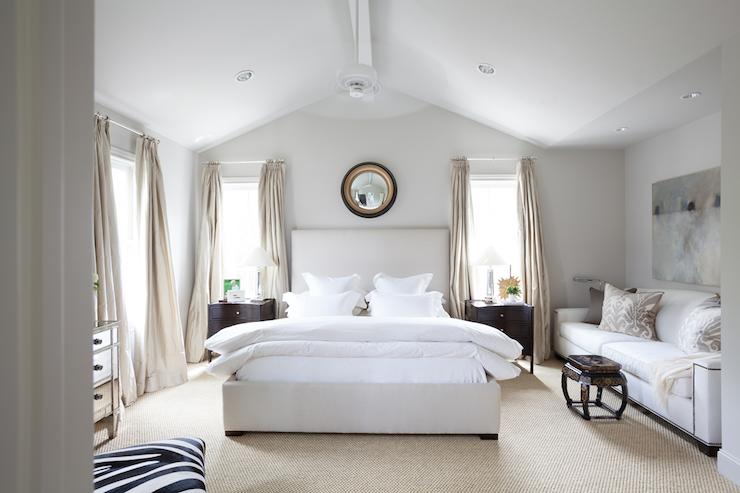 vaulted ceiling bedroom transitional bedroom ashley goforth design