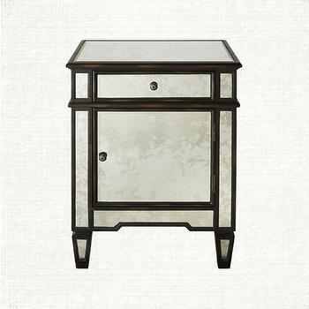 Storage Furniture - Isla Nightstand | Arhaus Furniture - mirrored nightstand, antiqued mirrored nightstand, antique mirror nightstand,