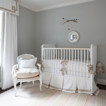 Gray Nursery, Transitional, nursery, Ashley Goforth Design