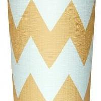 Decor/Accessories - Zig Zag Waste Basket | Shop Ten 25 - zig zag waste basket, yellow and white chevron waste basket, yellow and white zig zag waste basket,