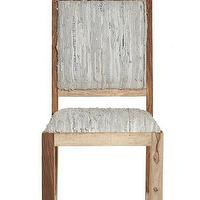 Seating - Sandstone Leather Dining Chair | Calypso St. Barth - rustic dining chair, woven leather dining chair, woven leather wood framed dining chair,