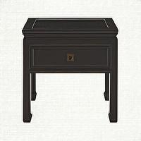 Tables - End Tables - Mason Collection | Arhaus Furniture - asian style end table, black asian end table, asian style end table,