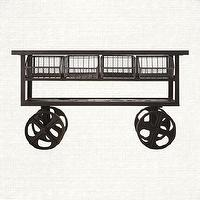 Storage Furniture - Iron Console Table | Arhaus Furniture - iron console table, industrial console table, industrial console table on castors,