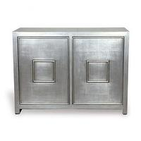 Storage Furniture - 5th Avenue Cabinet | Shop Ten 25 - silver leaf cabinet, silver cabinet, burnished silver leaf cabinet,