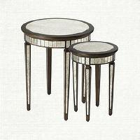 Tables - Nested End Tables | Arhaus Furniture - nesting mirrored tables, antiqued mirrored nesting tables, hollywood regency style nesting tables,