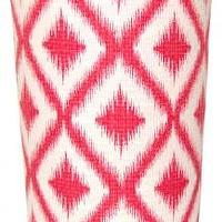 Decor/Accessories - Pink Diamonds Wastebasket | Shop Ten 25 - pink and white geometric wastebasket, pink and white diamond patterned waste basket, pink and white modern wastebasket,