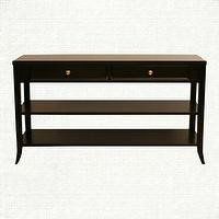 Tables - Sofa Table With Drawers - Kieran Collection | Arhaus Furniture - sofa table with drawers, espresso sofa table, transitional sofa table,