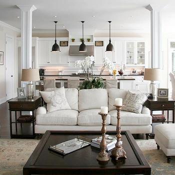 Open Floor Plan Design, Transitional, living room, Staples Design Group
