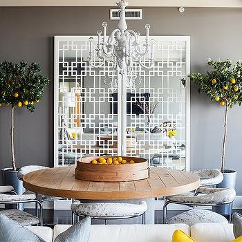 Gray dining room contemporary dining room muse interiors for Grey and yellow dining room ideas